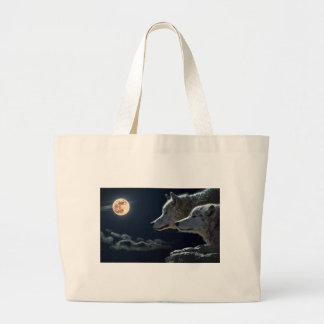 Lobos en la noche bolsa tela grande