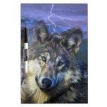 Lobos en la noche pizarras