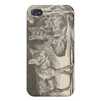 Lobos iPhone 4 Cárcasa