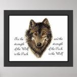 Lobos, lobo y cita del paquete, naturaleza de la a impresiones