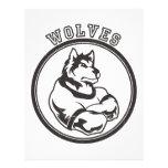 Lobos o mascota del lobo membrete