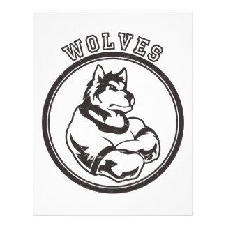 Lobos o mascota del lobo membrete personalizado