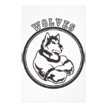Lobos o mascota del lobo papeleria de diseño