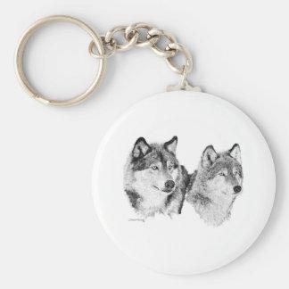 Lobos solitarios llaveros personalizados
