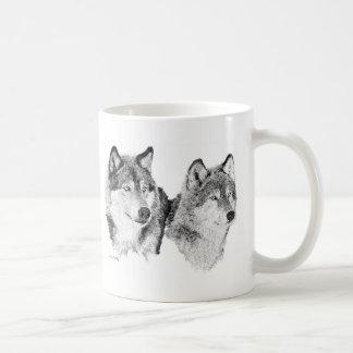 Lobos solitarios taza de café