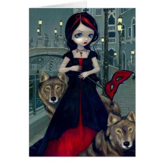 Lobos tarjeta de felicitación de Venecia