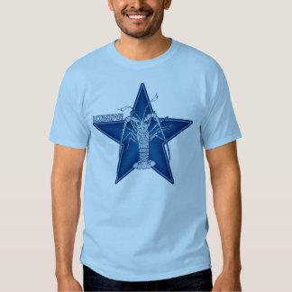 Lobstar Two on Blue Tee Shirt