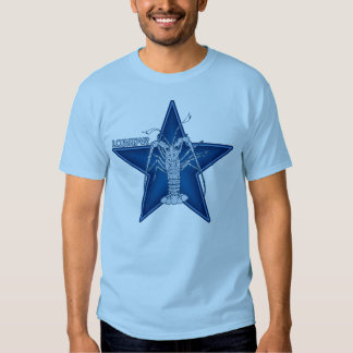 Lobstar Two on Blue Tshirts