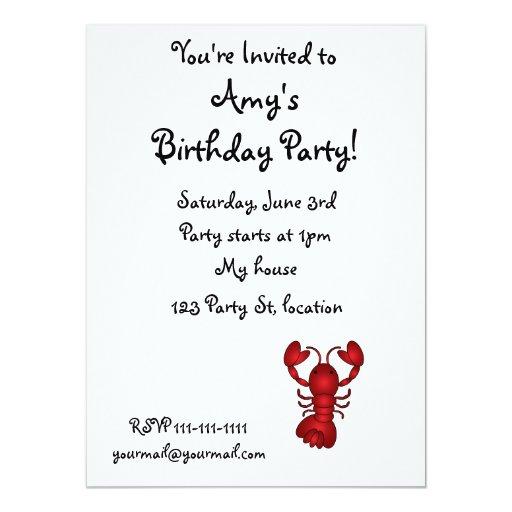 Lobster 5.5x7.5 Paper Invitation Card