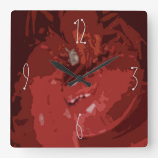 Lobster Abstract Square Wall Clock