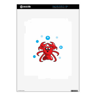 LOBSTER AND BUBBLES iPad 2 SKIN