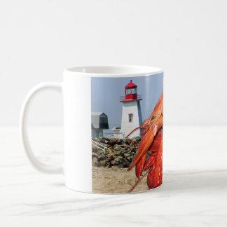 Lobster and Lighthouse Ocean Photograph Coffee Mug