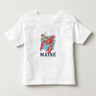 Lobster and Portland Lighthouse Scene Toddler T-shirt