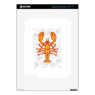 LOBSTER AND WAVES DECAL FOR iPad 3