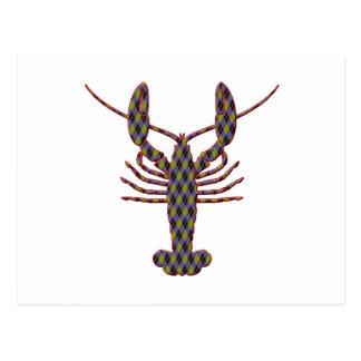Lobster Argyle Silhouette Postcard