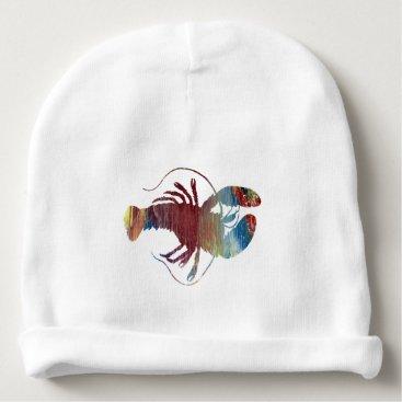 Beach Themed Lobster art baby beanie