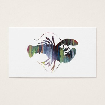 Beach Themed Lobster art business card