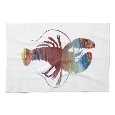 Beach Themed Lobster art hand towel