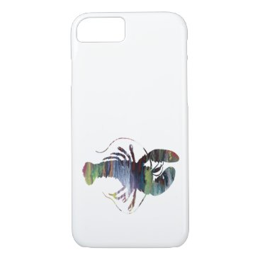 Beach Themed Lobster art iPhone 7 case