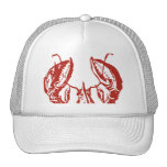 Lobster Art, King of Seafood Gifts Hats