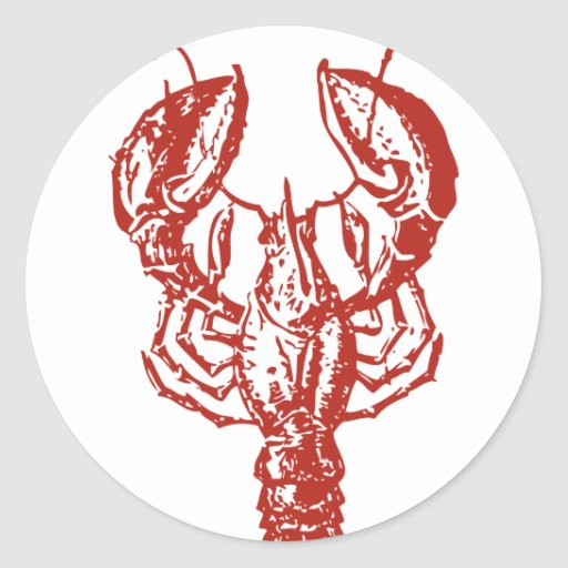 Lobster Art, King of Seafood Gifts Sticker