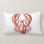 Lobster Art, King of Seafood Gifts Throw Pillows