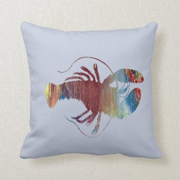 Beach Themed Lobster art throw pillow