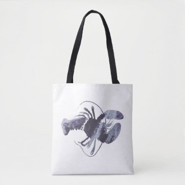 Beach Themed Lobster art tote bag