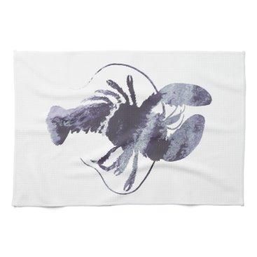 Beach Themed Lobster art towel