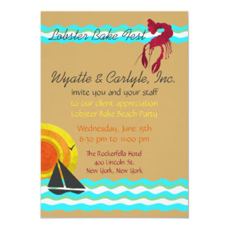 Lobster Bake Beach Party Invitation