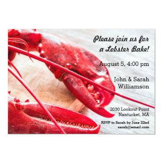 Lobster Bake Crawfish Boil Summer Nautical Beach Card