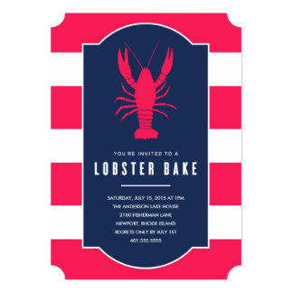 Lobster Bake   Summer Party Invitation
