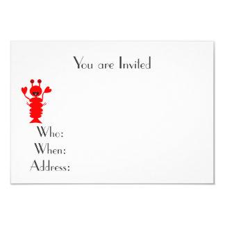 Lobster Beach cookout Card