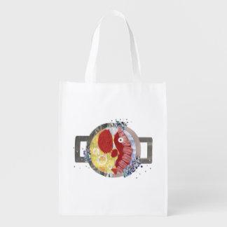 Lobster Beach Reusable Bag Reusable Grocery Bag