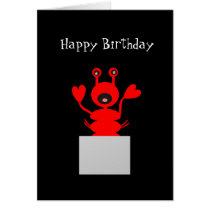 Lobster Birthday Card! Stay Out of Hot Water Card