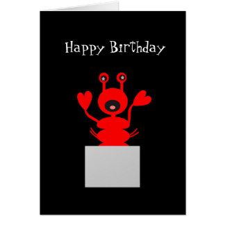 Lobster Birthday Card! Stay Out of Hot Water Greeting Card