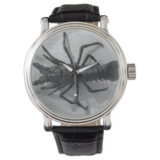 Lobster Black and White Photograph Watch