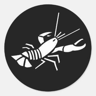Lobster Black Whtie Animal Sticker