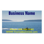 Lobster Boat And Islands Off Mount Desert Island Business Cards