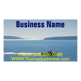 Lobster Boat And Islands Off Mount Desert Island Double-Sided Standard Business Cards (Pack Of 100)