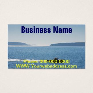 Lobster Boat And Islands Off Mount Desert Island Business Card