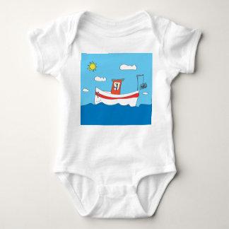 Lobster boat baby bodysuit
