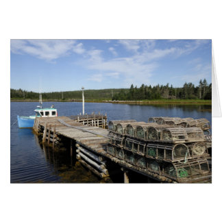 Lobster Boat, Mushaboom, Nova Scotia, Canada Card