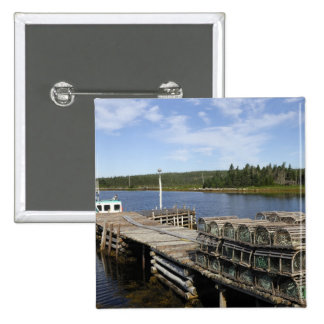 Lobster Boat, Mushaboom, Nova Scotia, Canada Pinback Button