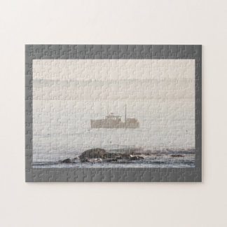 Lobster Boat Off Mount Desert Island Maine Jigsaw Puzzle
