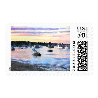 Lobster Boats At Twilight Cape Cod Postage Stamp