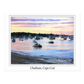 Lobster Boats At Twilight Cape Cod Postcard