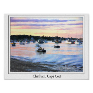 Lobster Boats At Twilight Cape Cod Poster