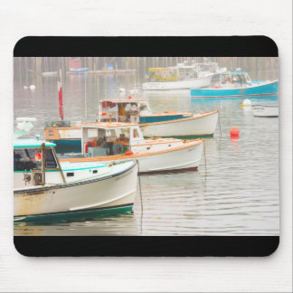 Lobster Boats In Bass Harbor, Mount Desert Island Mouse Pad
