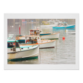 Lobster Boats In Bass Harbor, Mount Desert Island Poster